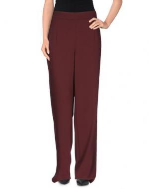 Повседневные брюки VANILIA. Цвет: красно-коричневый