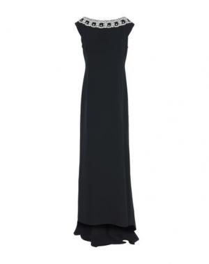 Длинное платье IVAN MONTESI. Цвет: черный
