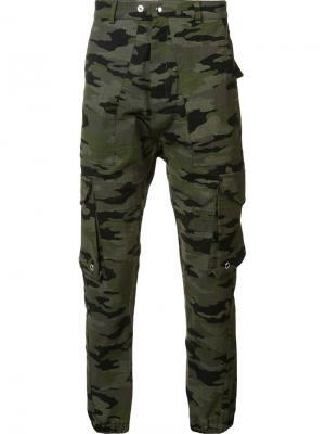 Камуфляжные брюки Mr. Completely. Цвет: коричневый