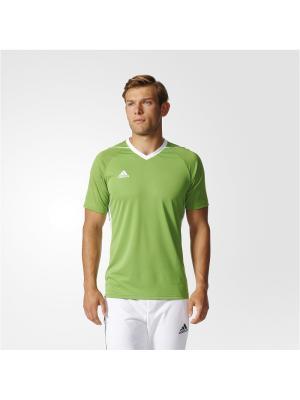 Футболка спортивная муж. TIRO 17 JSY Adidas. Цвет: зеленый