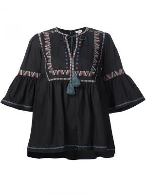 Туника с вышивкой Talitha. Цвет: чёрный