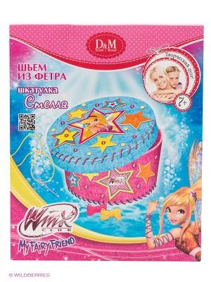 Набор Шьем шкатулку Стелла Winx Club Делай с мамой. Цвет: розовый, голубой