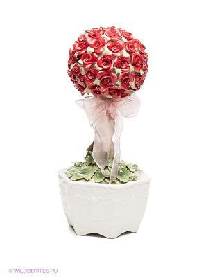 Музыкальная фигурка Букет роз Pavone. Цвет: зеленый, красный, белый