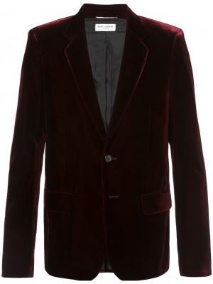 Classic single-breasted jacket Saint Laurent. Цвет: розовый и фиолетовый