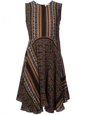 Платье с абстрактным принтом A.L.C.. Цвет: многоцветный