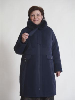Пальто Альфина VIKO. Цвет: темно-синий
