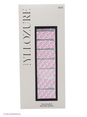 Лаковый стикер для ногтей Гламур, тон 72 ИЛЛОЗУР. Цвет: белый, фиолетовый, красный