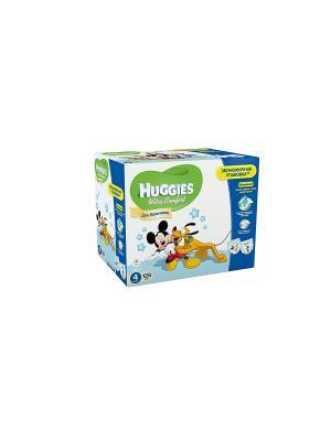 Подгузники Ultra Comfort Размер 4 8-14кг Disney Box 42*3 126шт для мальчиков HUGGIES. Цвет: голубой, синий