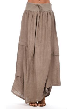 Юбка Couleur lin. Цвет: коричневый