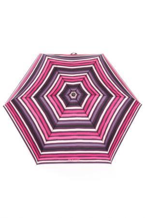 Зонт суперпрочный Isotoner. Цвет: розовый, полоски
