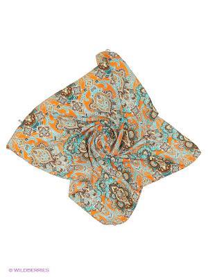 Платок Shapkoff. Цвет: оранжевый, бирюзовый
