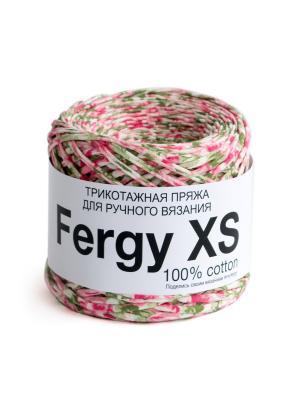 Пряжа Fergy XS. Цвет: серо-зеленый, белый, розовый