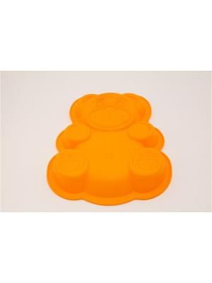 Форма силиконовая 30х23х3см, Медвежонок. Vetta. Цвет: желтый