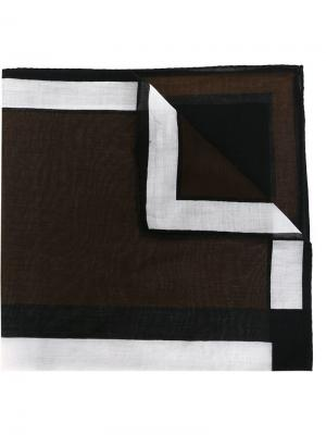 Нагрудный платок с геометрическим принтом Roberta  Di Camerino Vintage. Цвет: чёрный