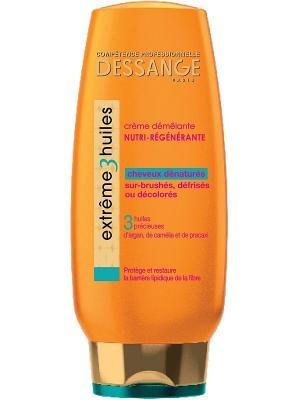 Крем для волос Extreme, 3 масла, экстремальное восстановление 200 мл Dessange. Цвет: оранжевый