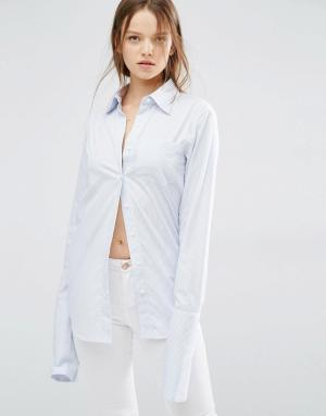 Style Mafia Рубашка в полоску HJ. Цвет: синий