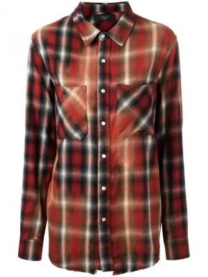 Рубашка в клетку с накладными карманами Amiri. Цвет: красный