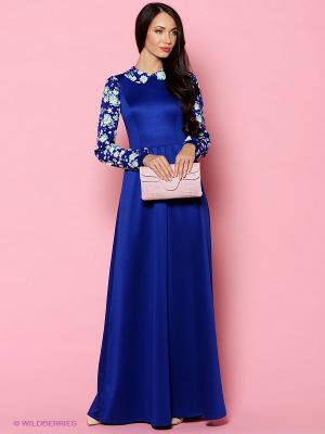 Платье Colambetta. Цвет: синий, зеленый