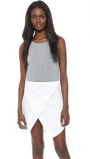 Платье без рукавов Jenna RUKEN. Цвет: серый/белый