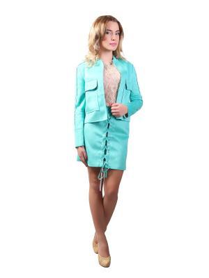 Костюм юбка и жакет Glam Goddess. Цвет: бирюзовый