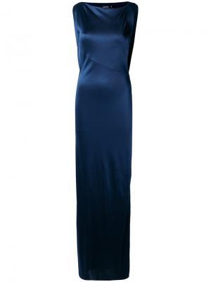 Длинное платье Atlein. Цвет: синий