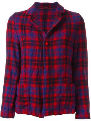 Шерстяной пиджак в клетку Daniela Gregis. Цвет: красный