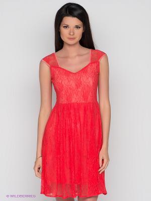 Платье Xenia. Цвет: коралловый