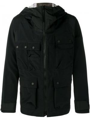 Куртка с капюшоном White Mountaineering. Цвет: синий