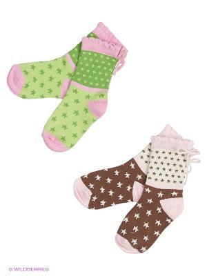 Носки Malerba. Цвет: коричневый, бежевый, розовый, белый, зеленый