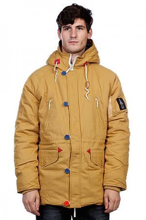 Куртка парка True Spin Alaska Jacket Beige/Camo TrueSpin. Цвет: оранжевый,камуфляжный