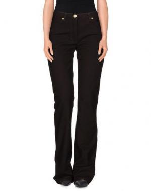 Повседневные брюки LAURA BIAGIOTTI. Цвет: темно-коричневый