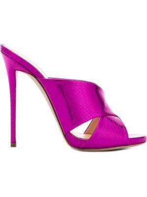 Мюли Bella Giuseppe Zanotti Design. Цвет: розовый и фиолетовый