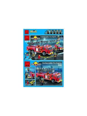 Конструктор пластиковый пожарная машина ENLIGHTEN. Цвет: красный