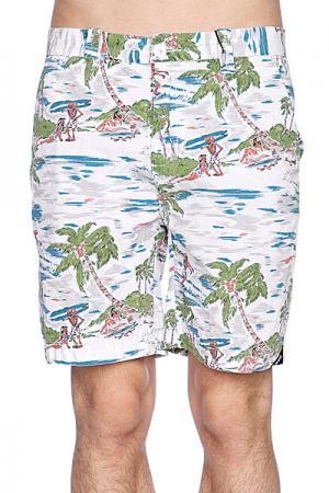 Пляжные мужские шорты  Dubbed Short White Globe. Цвет: белый