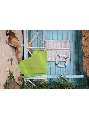 Полотенце пляжное Дафна 90*170 цв. зеленый TOALLA. Цвет: зеленый