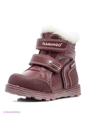 Ботинки Flamingo. Цвет: бордовый