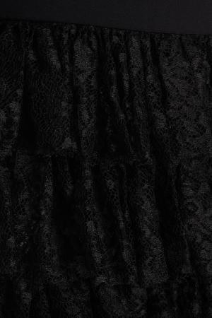 Однотонное платье Alessandra Rich. Цвет: черный