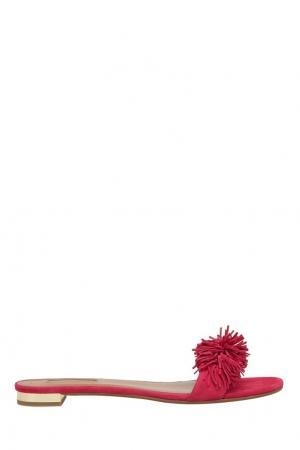 Замшевые сандалии Wild Thing Aquazzura. Цвет: розовый