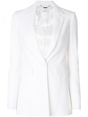 Классический приталенный блейзер Givenchy. Цвет: белый