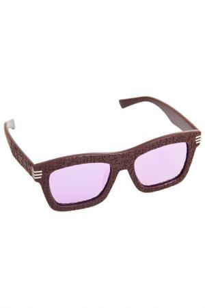 Солнцезащитные очки Asavi Jewel. Цвет: коричневый, розовый