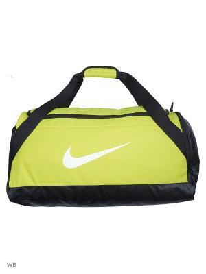 Сумки NK BRSLA M DUFF Nike. Цвет: черный, желтый