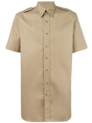 Рубашка с короткими рукавами Palm Angels. Цвет: телесный