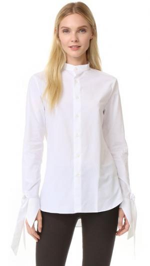 Рубашка Polly китайском стиле Marie Marot. Цвет: белый