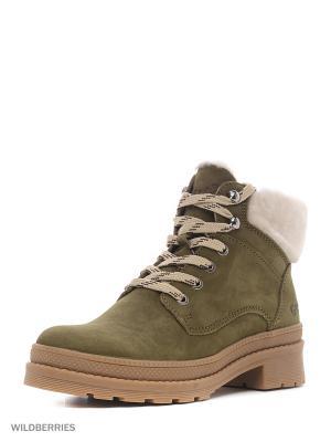 Ботинки GUT. Цвет: оливковый