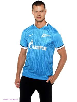 Футболка ZENIT SS H/A STADIUM JSY Nike. Цвет: голубой