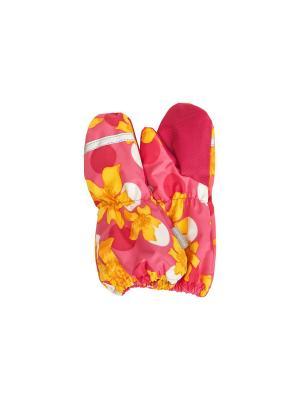 Варежки Kerry. Цвет: желтый, оранжевый, розовый
