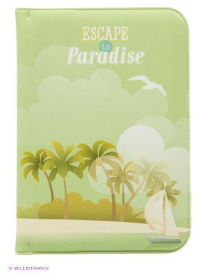 Обложка для паспорта Escape to Paradise Kawaii Factory. Цвет: зеленый