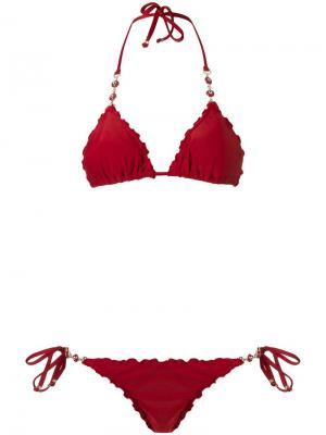 Triangle bikini set Amir Slama. Цвет: красный