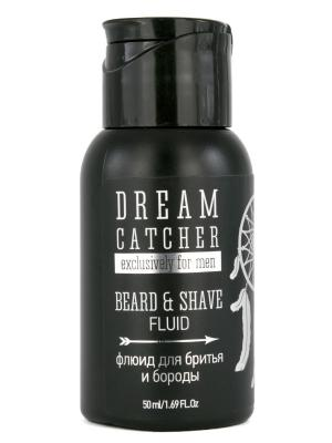 Dream catcher beard & shave fluid  универсальный флюид для бритья и бороды 50мл CATСHER. Цвет: прозрачный