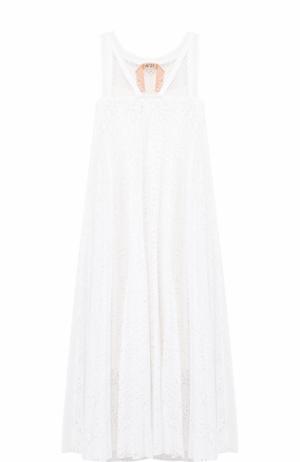 Кружевное платье свободного кроя No. 21. Цвет: белый